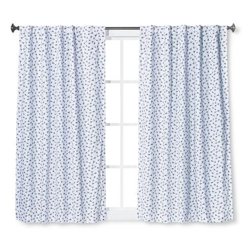Twill Blackout Curtain Panel Arrow Print Blue - Pillowfort™ - image 1 of 1