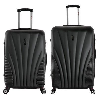 InUSA Chicago 2pc Hardside Spinner Luggage Set - Black