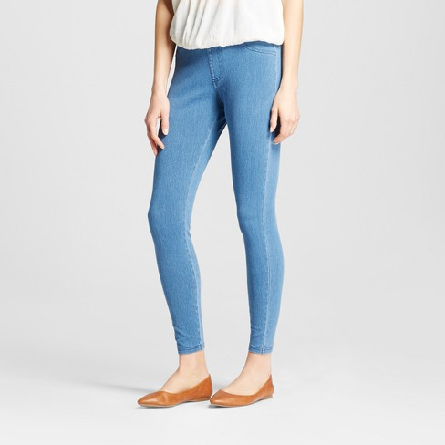 Women's High Waist 5-Pocket Jeggings - A New Day™ Light Washed Blue - image 1 of 2