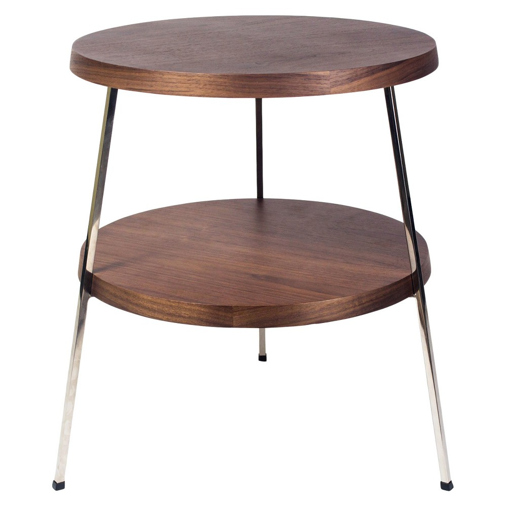 Image of 17.5 Two Top Side Table - Walnut (Brown) - Aeon