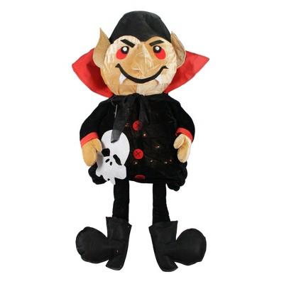 "Northlight 35"" Prelit Standing Creepy Count Dracula Vampire Halloween Decoration - Black/Red"