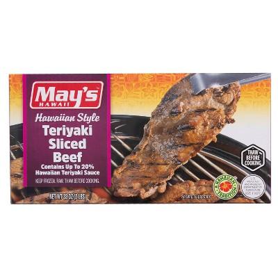 May's Hawaiian Style Teriyaki Sliced Beef - Frozen - 32oz