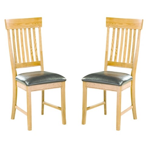 Family Dining Slat Back Side Chair Chestnut Finish (Set of 2) - Intercon - image 1 of 1