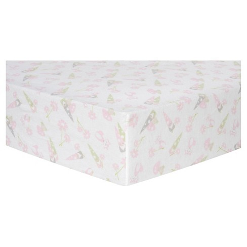 Trend Lab Deluxe Flannel Fitted Crib Sheet - Garden Gnomes - image 1 of 2