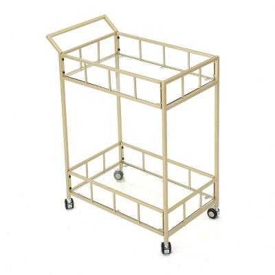 Falon Modern Glam Bar Cart Gold - Christopher Knight Home