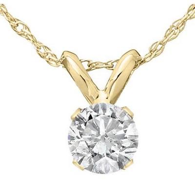 Pompeii3 1/2 Ct Diamond Solitaire Pendant Necklace in 14k