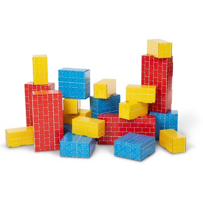 Melissa & Doug Extra-Thick Cardboard Building Blocks - 24 Blocks in 3 Sizes