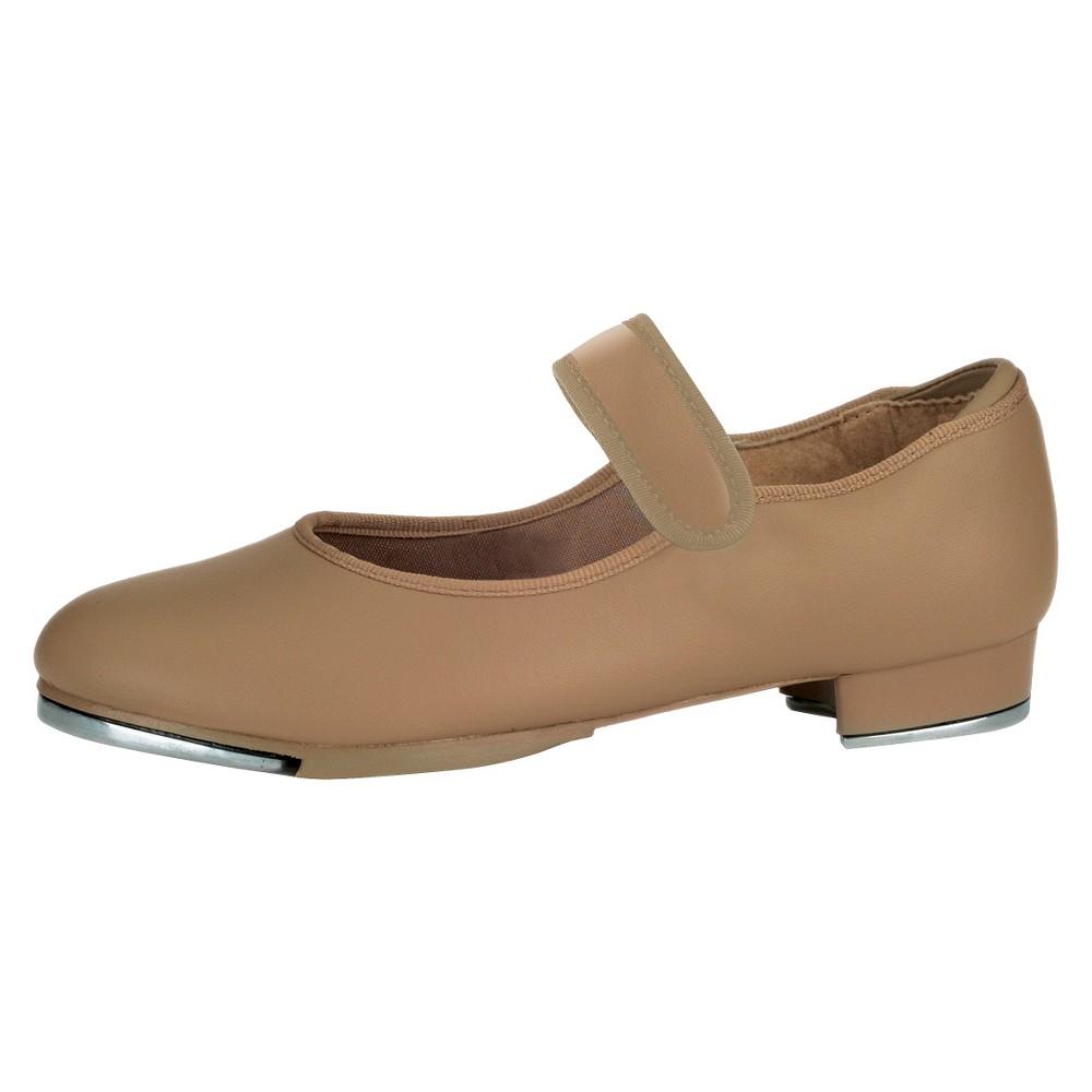Toddler Girls' Danshuz Tap Dance Shoes Tan 12.5, Beige