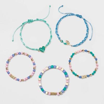 Girls' 5pk Mermaid Bracelet Set - Cat & Jack™