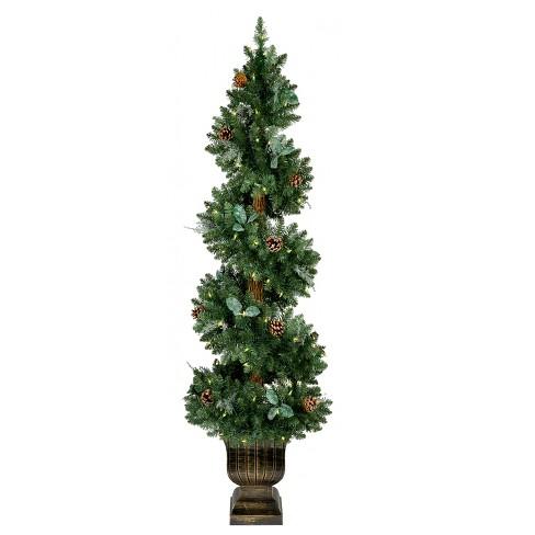 Pre Lit Christmas Tree Deluxe Led Lights Green Black