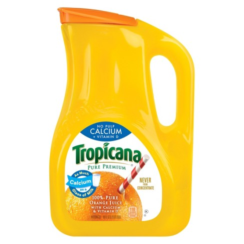 Tropicana Pure Premium No Pulp Calcium + Vitamin D 100 % Pure Orange Juice - 89 fl oz - image 1 of 1