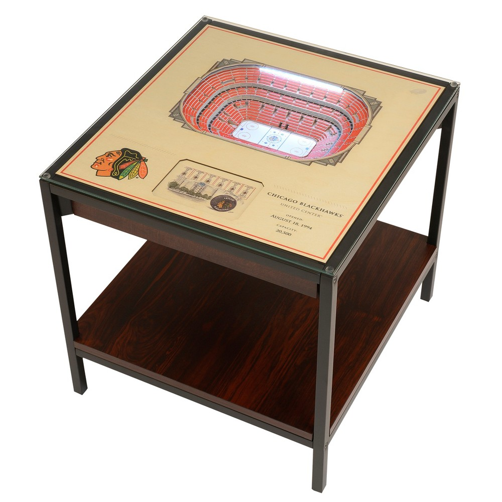 NHL Chicago Blackhawks 25 Layer Lighted StadiumView End Table