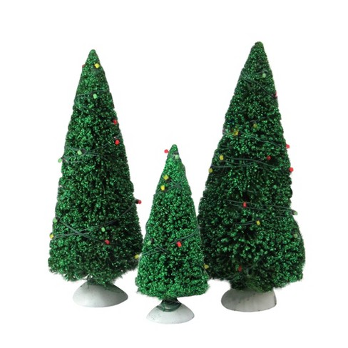 Department 56 Christmas Tree.Department 56 Set Of 3 Light Green Twinkling Lit Table Top Trees 8 5