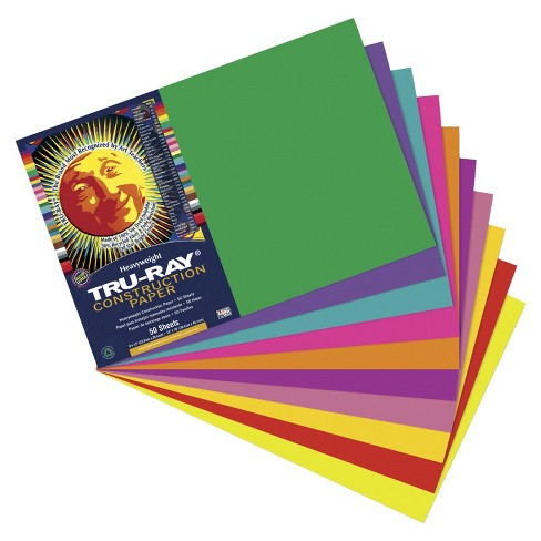 Tru-Ray Sulphite Construction Paper, 12 x 18 Inches, Assorted Colors, pk of 50 - image 1 of 1