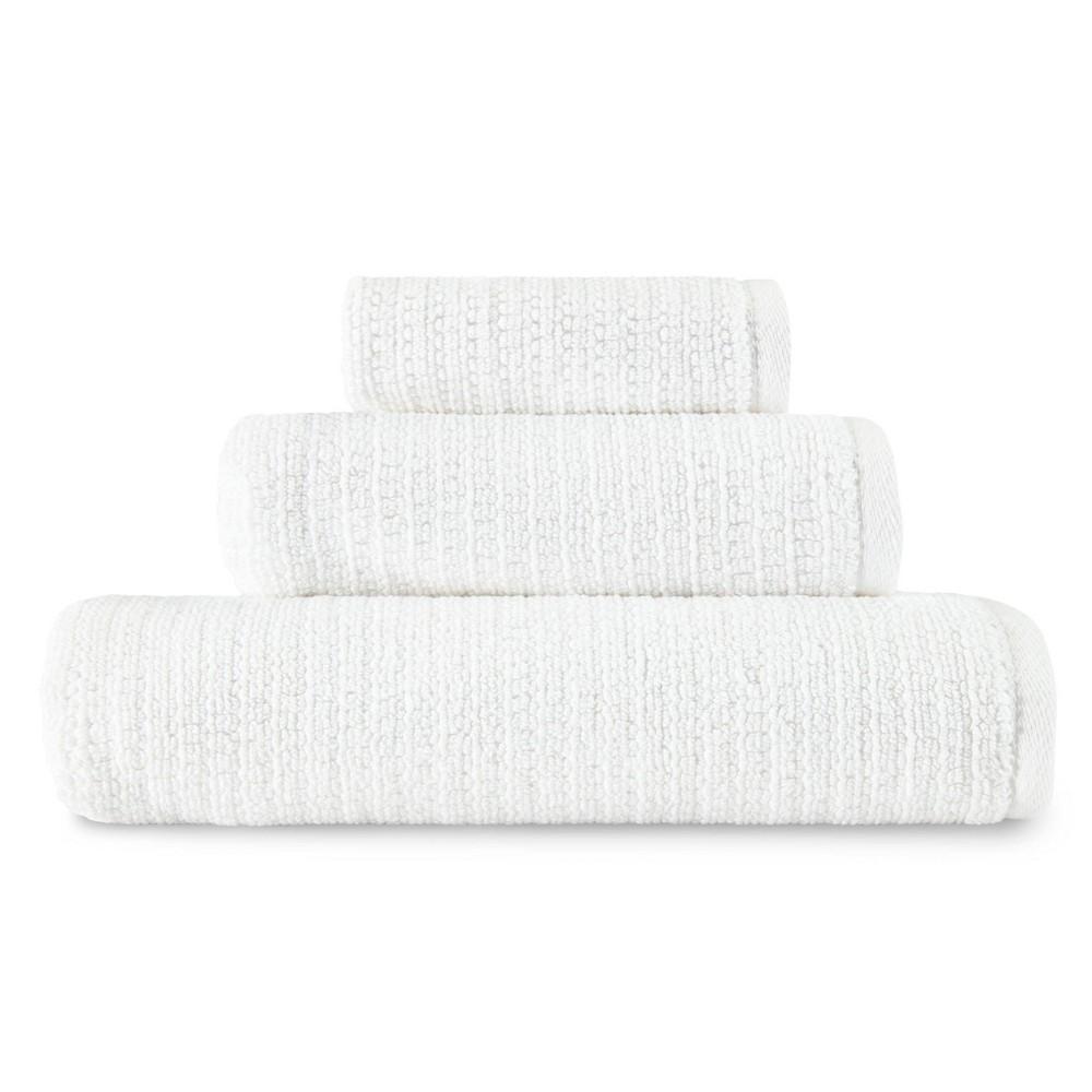 Image of 3pc Joy Towel Set Solid White - ED by Ellen DeGeneres