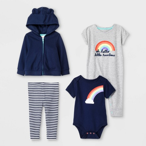 Baby Top and Bottom Set - Cat & Jack™ Blue - image 1 of 1