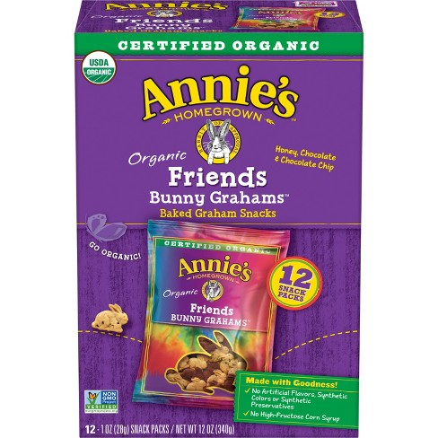 Annie's Friends Bunny Grahams Baked Snacks - 12oz - image 1 of 3