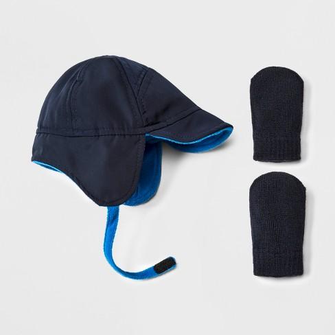 Toddler Boys  Trapper Hat And Mitten Set - Cat   Jack™ Blue   Target e33567ece
