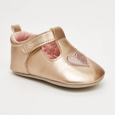 Baby Girls' Surprize by Stride Rite Mary Jane Shoes - Rose Gold 12-18M