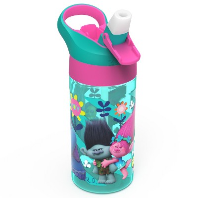 Trolls 17.5oz Plastic Water Bottle Blue/Pink - Zak Designs