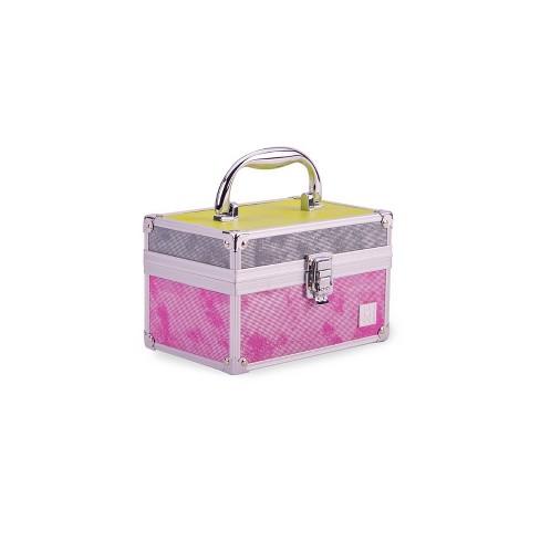 Caboodles Train Case Color Block Metallic Makeup Bag - image 1 of 4
