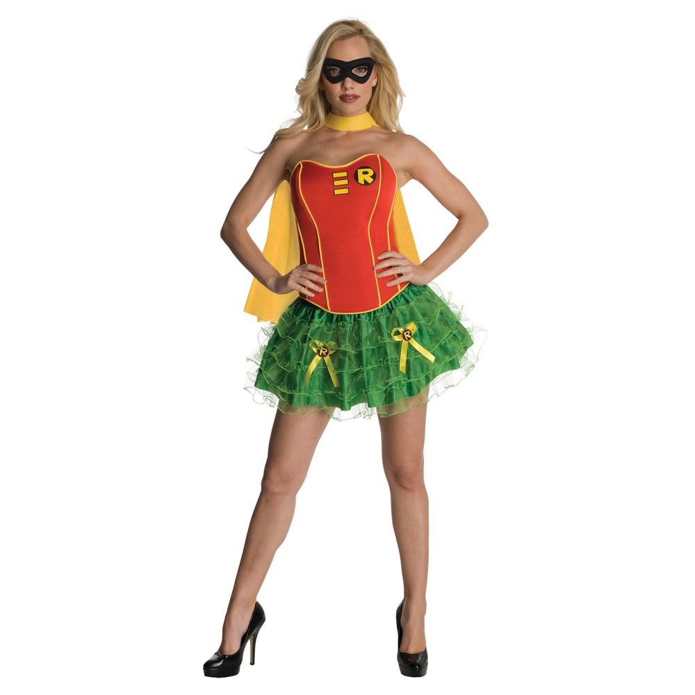 DC Comics Women's Robin Flirty Costume X-Small, Size: Small, Multicolored