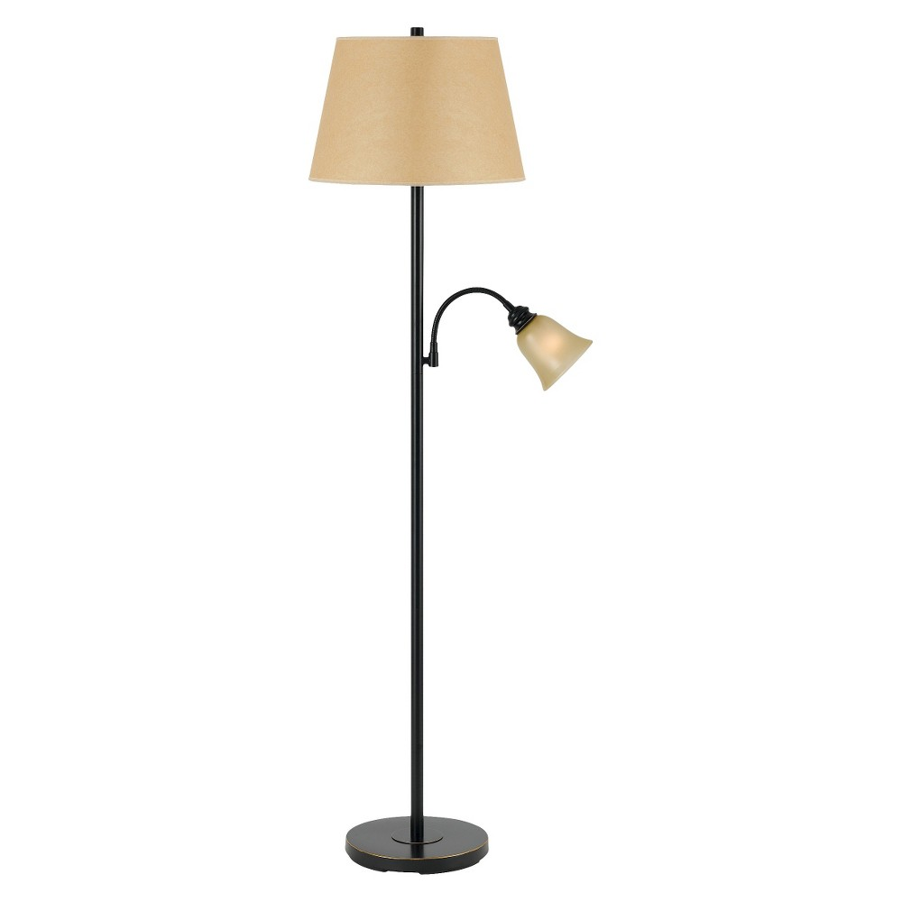 Metal Floor Lamp With Gooseneck Reading Lamp, Multicolored