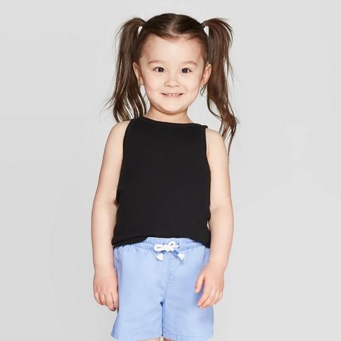 Toddler Girls' Solid Tank Top - Cat & Jack™ Black - image 1 of 3