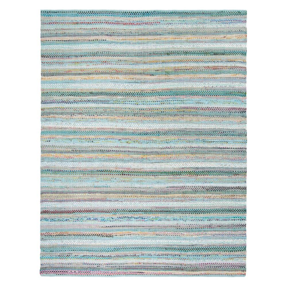 Aqua (Blue) Stripe Woven Area Rug 8'X10' - Safavieh