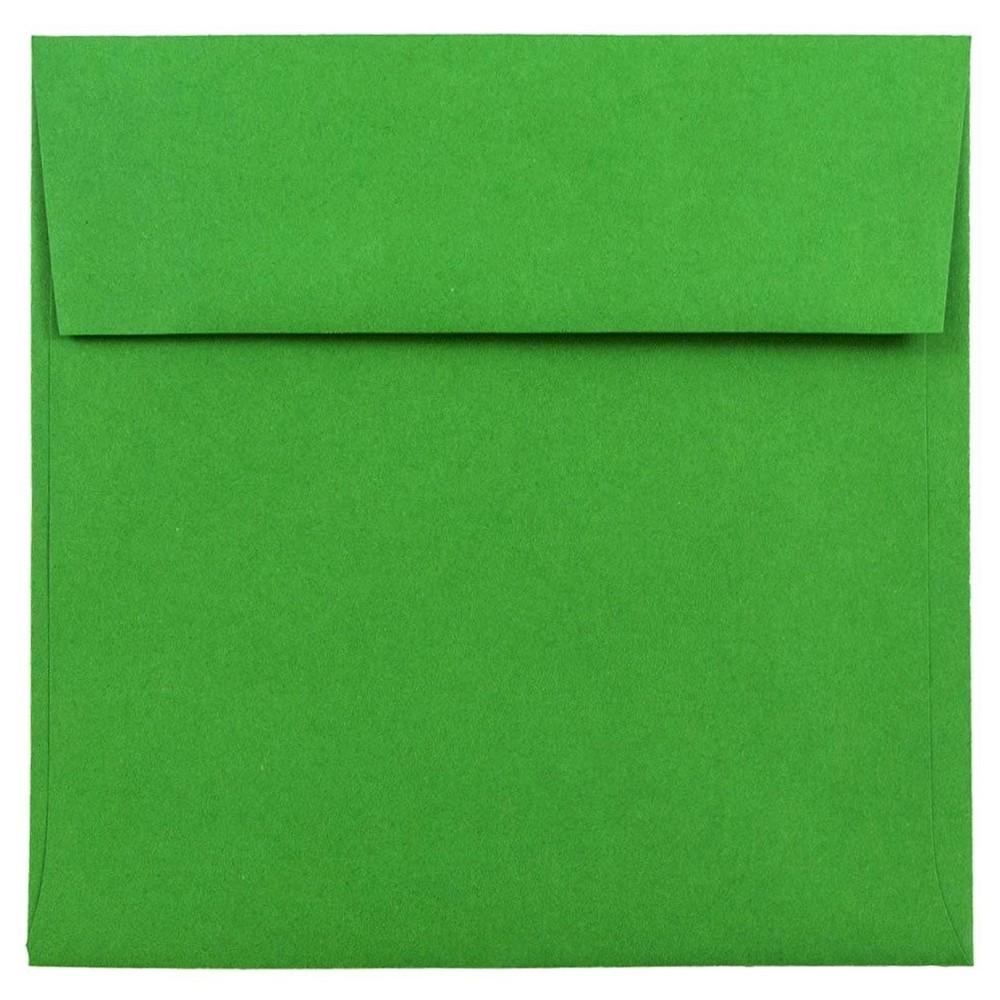 Jam Paper Brite Hue 6 x 6 Envelopes, 50 per pack, Green