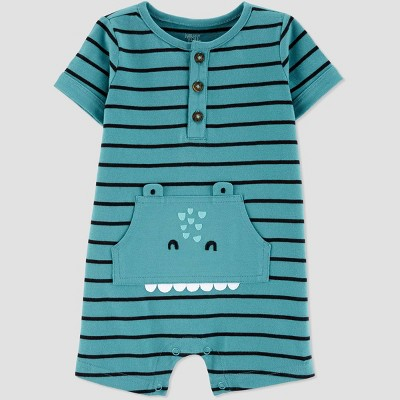 Baby Boys' Crocodile Short Romper - Just One You® made by carter's Green Newborn