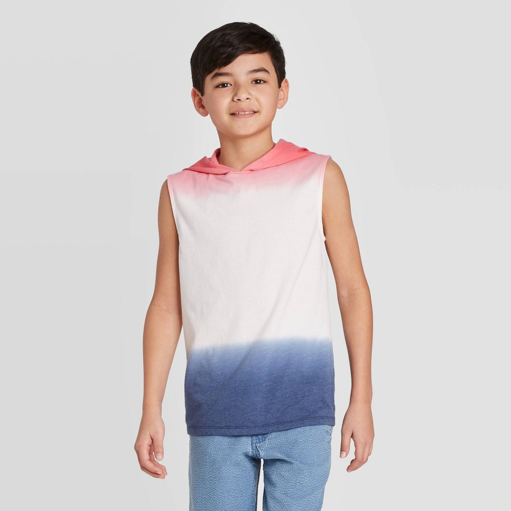 Image of Boys' Americana Dip Dye Tank Top - Cat & Jack Red/White/Navy L, Boy's, Size: Large, Multicolored Red Blue