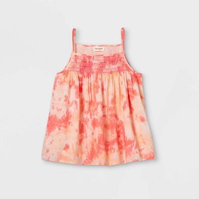 Girls' Tie-Dye Woven Tank Top - Cat & Jack™