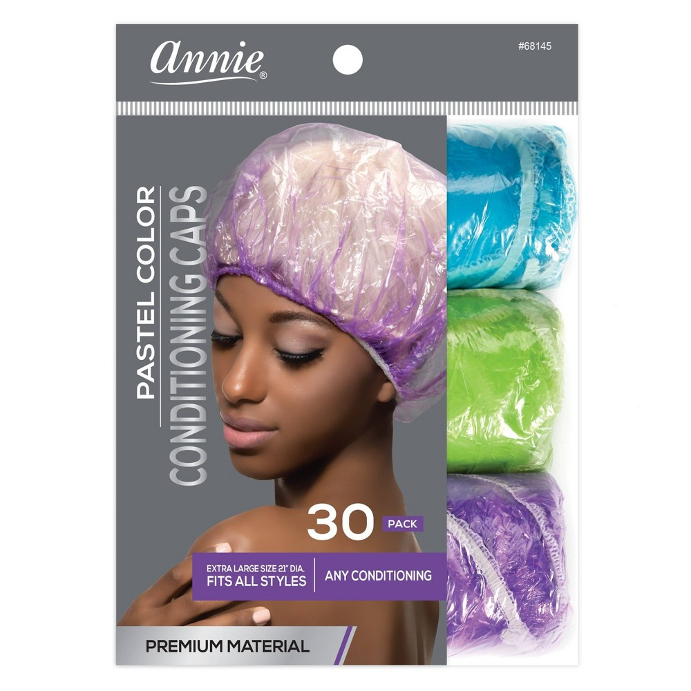 Image of Annie Conditioning Caps - 30pc, White