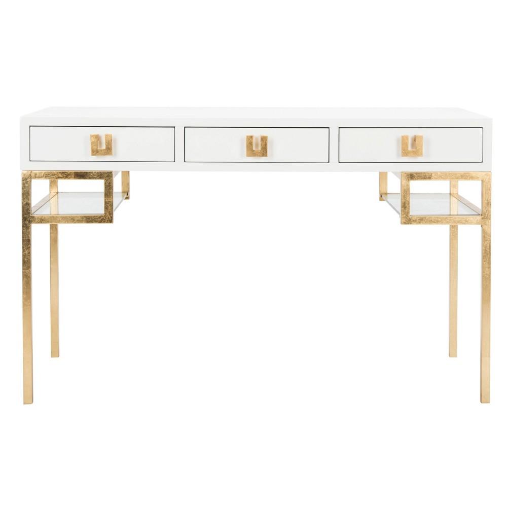 Writing Desk White Gold - Safavieh