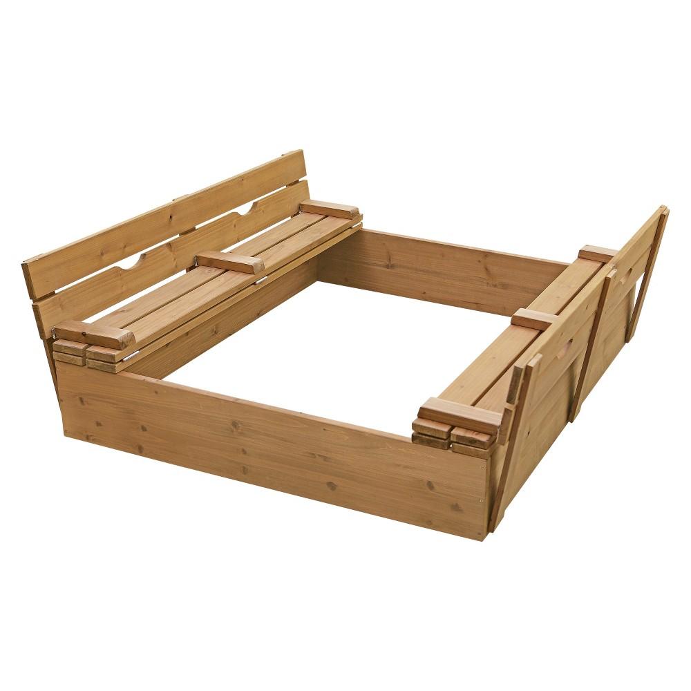Badger Basket Covered 2-Bench Sandbox, Standalone Playgro...