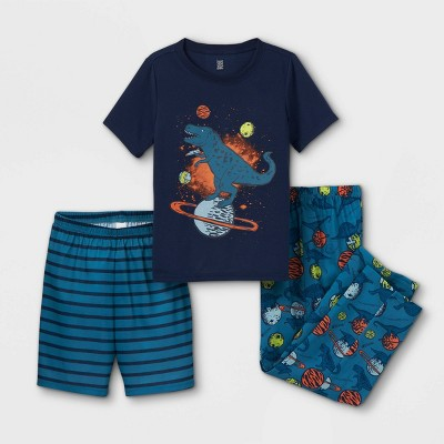 Boys' 3pc Dino Space Pajama Set - Just One You® made by carter's Blue