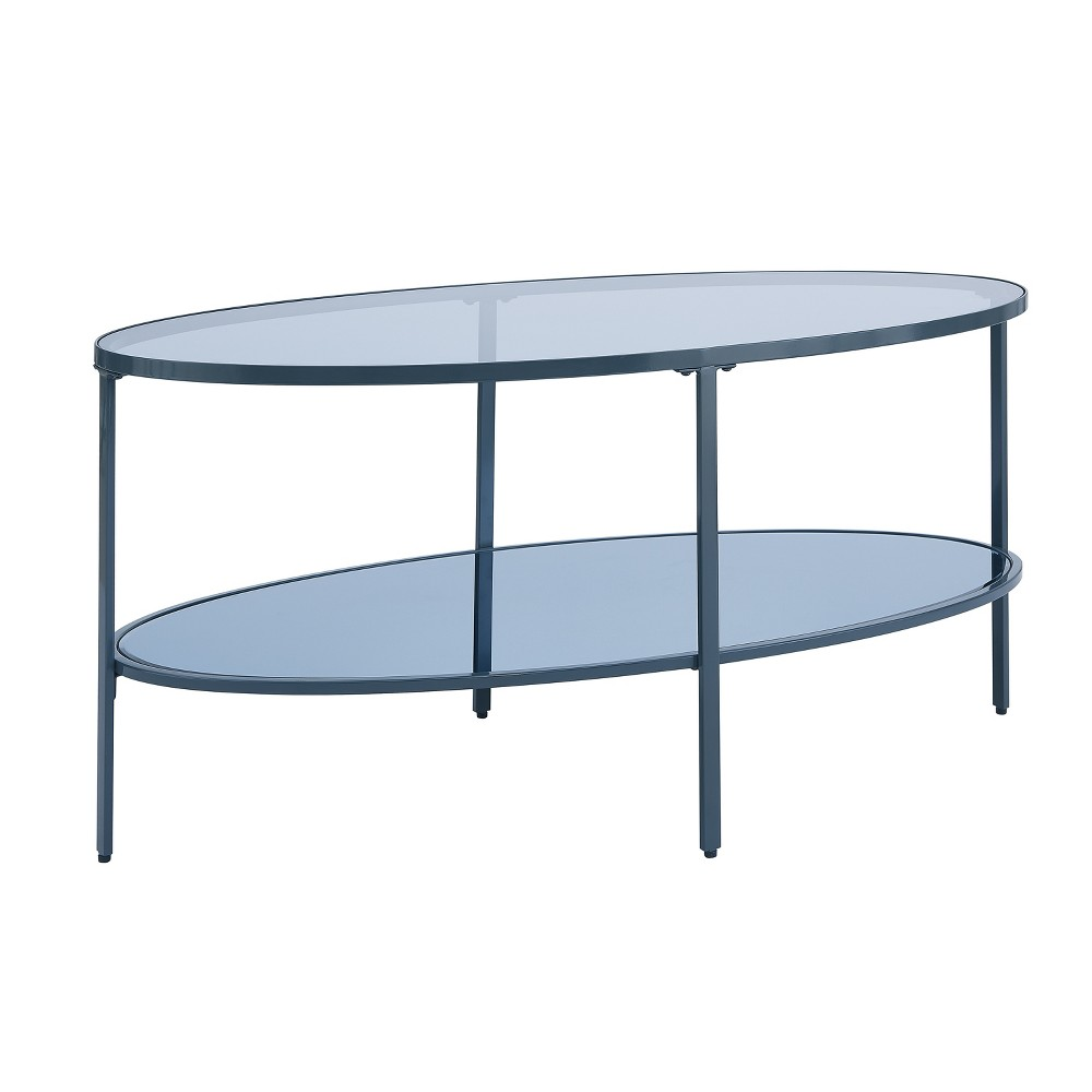 Lenae Glass Coffee Table Gray - Aiden Lane