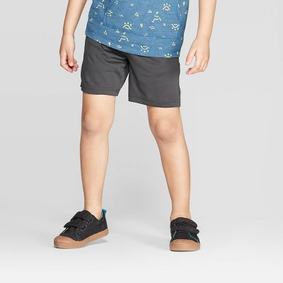 Toddler Boys' Interlock Athletic Shorts - Cat & Jack™ Dark Gray 12M