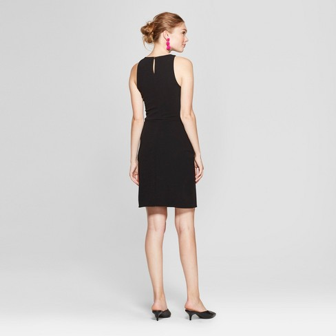 6782d29358456 Women s Sleeveless Scuba Shift Dress - A New Day™ Black   Target