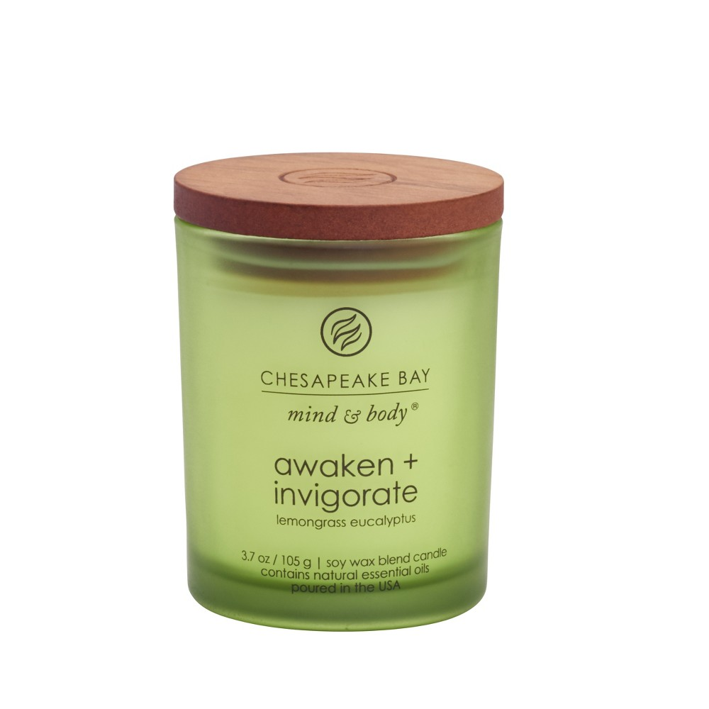 3.7oz Small Jar Candle Awaken & Invigorate - Mind And Body By Chesapeake Bay Candle, Green