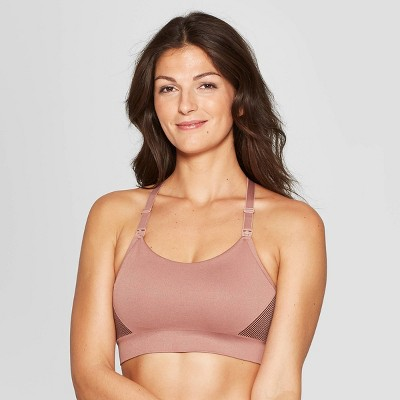 Women's Nursing Yoga Bra - Auden™ Mauve/Burgundy XL