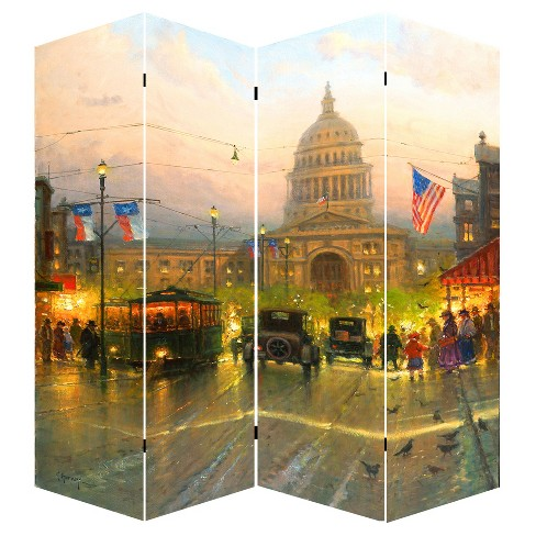 "Room Divider 71"" - Canvas - Capitol Hill Street Scene - Ore International - image 1 of 2"