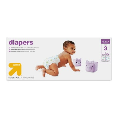 Diapers Super Pack Size 3 - 104ct - Up&Up™