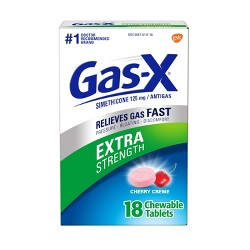 Gas-X Extra Strength Antigas Chewable Cherry Crème Tablets - 18ct