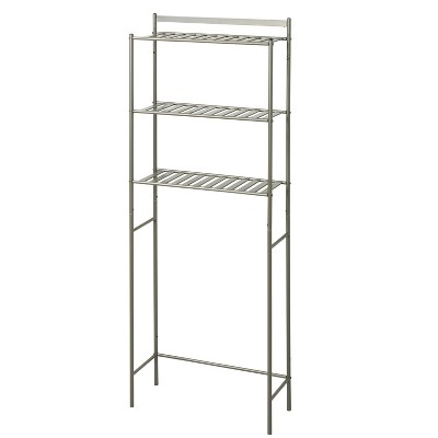 Slat Style Over the Toilet Etagere Brushed Nickel - Zenna Home