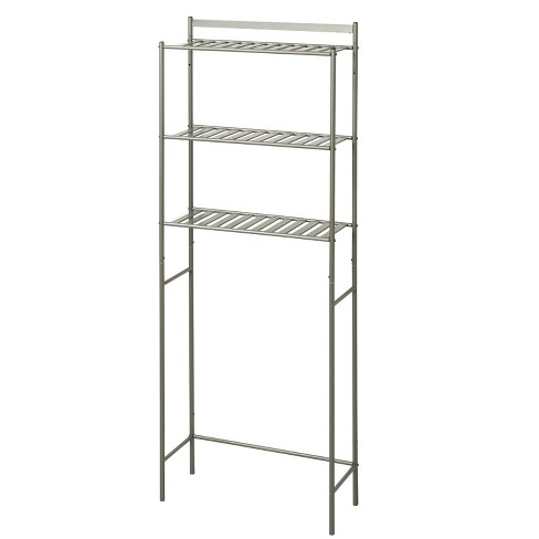 Slat Style Over The Toilet Etagere Brushed Nickel Zenna Home Target