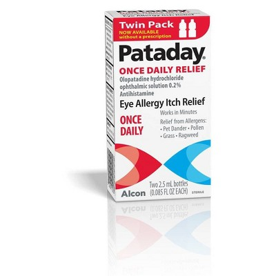 Pataday Once Daily Eye Allergy Itch Relief Twin Pack Drops - 2pk