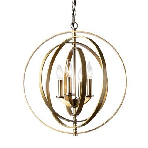 Roisin Brass Orb Chandelier Brass - Baxton Studio - image 1 of 3