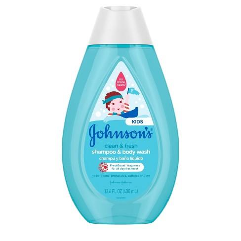Johnson's Kids Clean and Fresh Shampoo and Wash - 13.6 fl oz - image 1 of 4